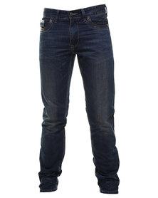 Cutty Ritchie Slim Leg Denim Jean Blue