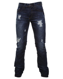 Cutty Darren Slim Leg Denim Jeans Blue