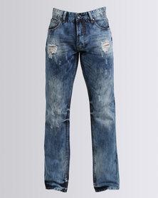 Cutty Basset Straight Jeans Blue