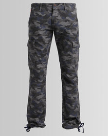 Cutty Ryan Cotton Camo Cargo Pants Charcoal