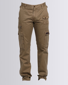 Cutty Ruger Cotton Cargo Pants Brown