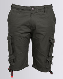 Cutty Battle Cargo Shorts Green