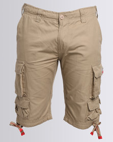 Cutty Battle Cargo Shorts Beige