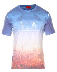 Cutty New York T-Shirt Blue