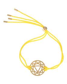 Daisy Manipura Solar Plexus Chakra Bracelet Gold-Plated