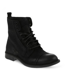 Danielle Michelle Demi Leather Boots Black