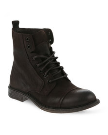 Danielle Michelle Demi Leather Boots Brown