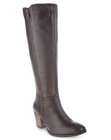 Daniella Michelle Alma Sheep Leather Boots Brown