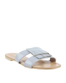 Daniella Michelle Tabitha Flat Sandals Silver