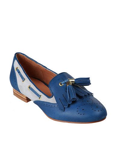 Daniella Michelle Jaymie Flats Blue Beige