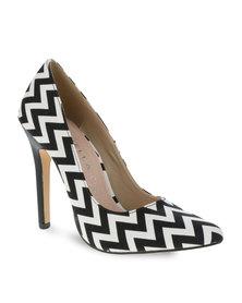 Daniella Michelle Celli Heels Black and White