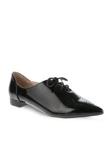 Daniella Michelle Joesy Lace-Up Shoes Black