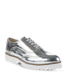 Daniella Michelle Stelha Lace-Up Shoes Silver