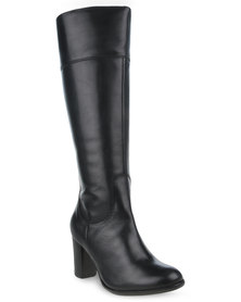 Daniella Michelle Macem Leather Boots Black