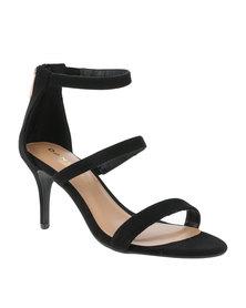 Daniella Michelle Kristina Multi Strap Heel Black