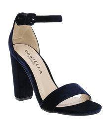 Daniella Michelle Monica Ankle Strap Heel Navy