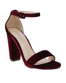 Daniella Michelle Monica Ankle Strap Heel Burgundy