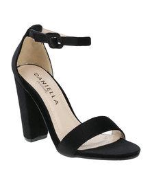Daniella Michelle Monica Ankle Strap Heel Black