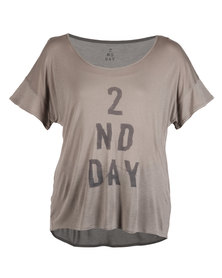 DAY Birger Et Mikkelsen 2nd Crinkled T-Shirt Grey
