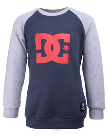 DC Core Raglan Boys Sweater Navy