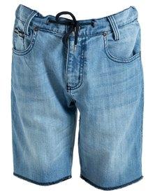 DC Boys Baptiste Denim Shorts Blue