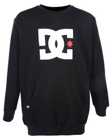 DC Star Check Crew Sweater Black