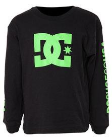 DC Star Standard LS Tods Sweatshirt Black