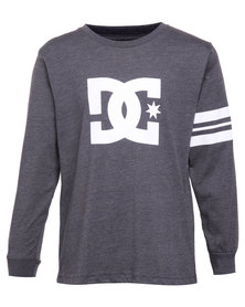 DC Star Stripe Boy's Top Charcoal Melange