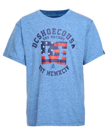 DC One Nation Kids Tee Blue