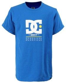 DC Boys Rackett Short Sleeve Tee Blue