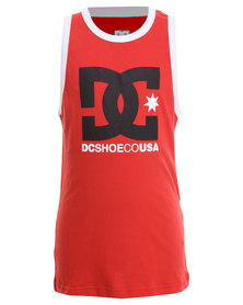 DC Earl Boys Tank Top Red