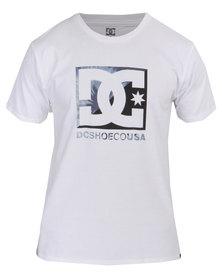 DC Cross Star Tye Die Short Sleeve Tee White