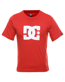 DC Star Standard Boys Tee Red