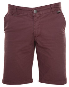 Deacon Ibus Shorts Burgundy