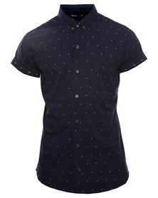 Deacon Nate Short Sleeve Shirt Navy