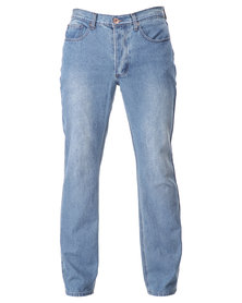 Dickies Button Fly Slim Jeans Stone