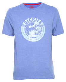 Dickies Mens Basic Printed Waipahu Tee Blue