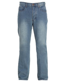Dickies Fort Worth Classic Buttonfly Straight Jean Blue