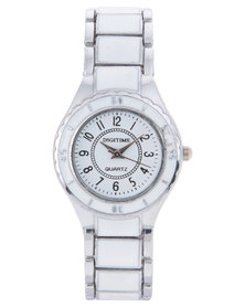 Digitime Tiler Two Colour Bracelet Watch White