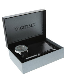 Digitime Watch Wallet Pen Set Multi