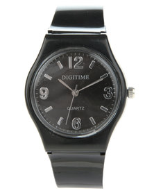 Digitime Carousel Plastic Watch Black