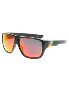 Dot Dash Rasta Red Chrome Sunglasses