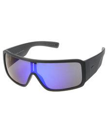 Dot Dash Chalube Wrap Around Sunglasses Dark Grey