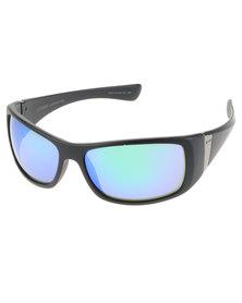 Dot Dash Convex Satin Wrap Mirror Lens Sunglasses