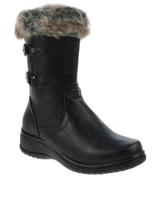 DR Hart Evelina Mid Boot Black