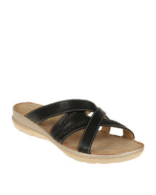 DR Hart Jazzmyn Back Slip On Sandal Black