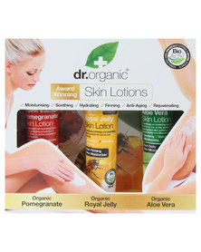 Dr. Organic Body Lotion Gift Set- Aloe Vera, Royal Jelly and Pomegranate Skin Lotion