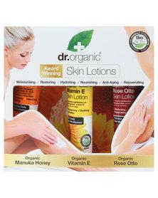 Dr. Organic Body Lotion Gift Set- Rose Otto, Manuka Honey & Vitamin E Skin Lotion
