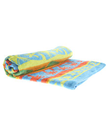 Dreyer Linen Luxury Quality Hawaii Velour Beach Towel Multi