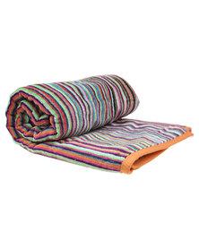 Dreyer Linen Multi Coloured Stripe Beach Towel
